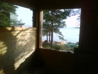 Utsikt från bastu i Sandhamn